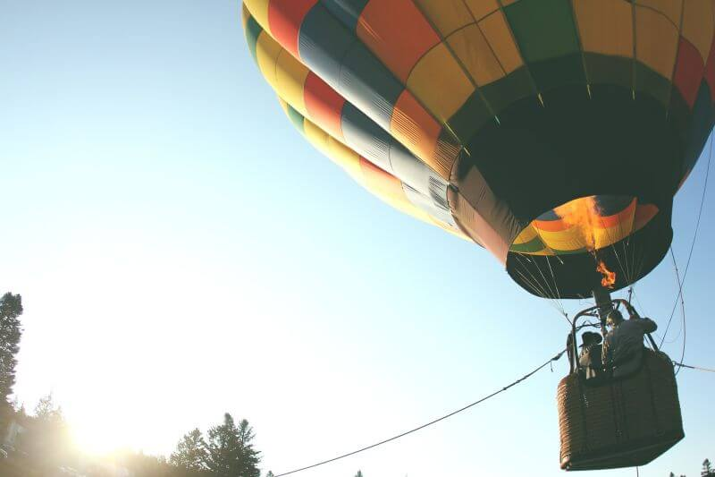 balon na špagátu