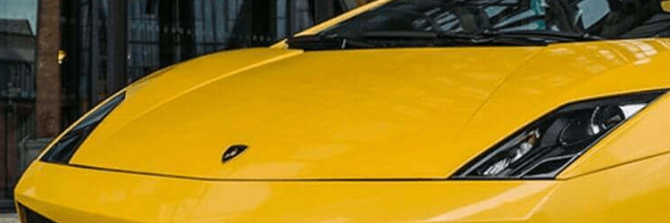 Žluté auto Lamborghini