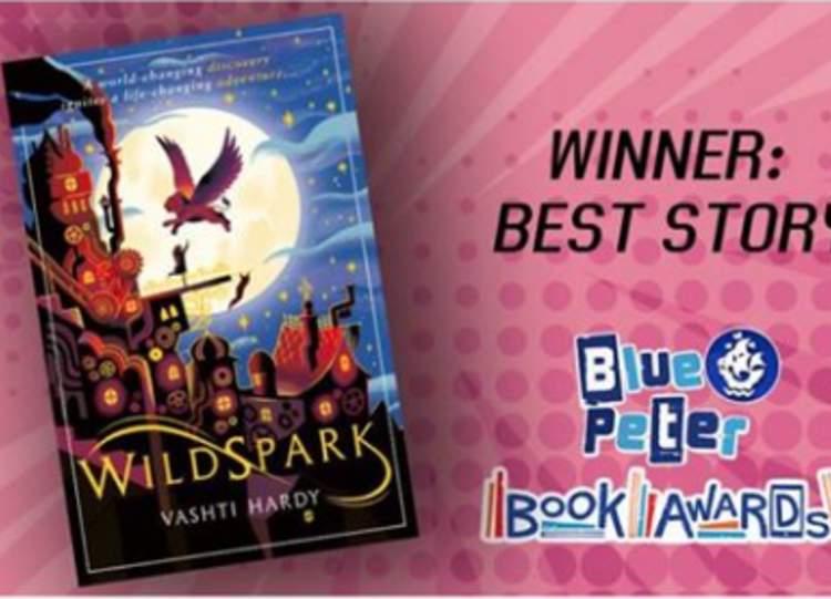 Vashti Hardy is the 2020 winner of the Blue Peter best story award