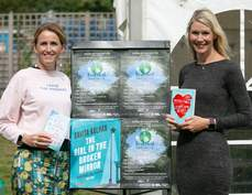 Clare Swatman and Tamsyn Murray at the Waterstones Tent