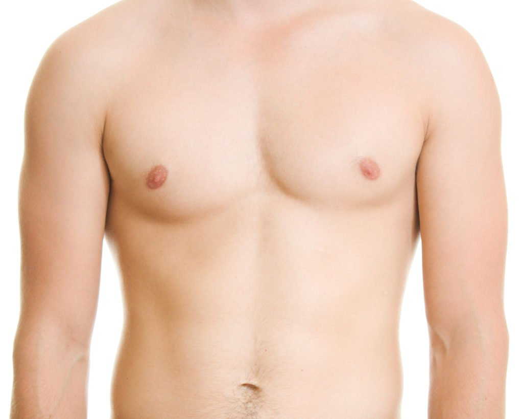 Male breast photo