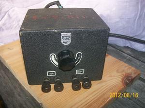 598. Philips, transformator från Sveriges Radio. Typ: GM 4260. Nr: 550100_9458