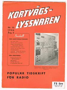 Kortvågslyssnaren nr 12. 1946 årgång 2.