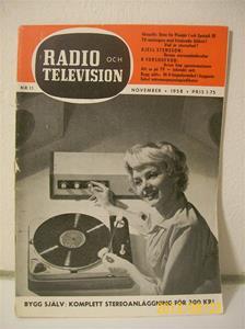 763. Radio & Television nr 11 november 1958. Pris: 1,75:-. Tidskrift för radio/tvteknik. 101_0415