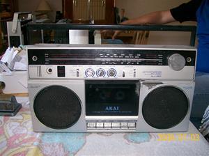 133. Akai radiocassette. Typ: AJ-457 FL 4 band stereo. Nummer: 2286594. Fotonr: 100_1250. Inlagt på webben 2014-06-05.