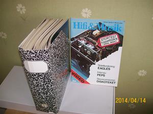 850. HiFi & Musik, tidningar. Diverse nr från 1976 nr 9 pris 8,90:-. Till nr 12 1981 pris 18,75:- (julnummer). Fotonr: 101_0599