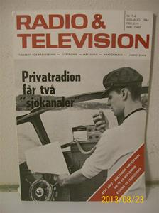 760. Radio & Television nr 7-8 juli-aug 1964. Pris: 3,00:- Tidskrift för radio/tvteknik. 101_0410