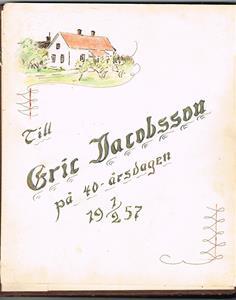 Till Eric Jacobsson 1957 02 01.