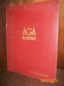 659. Såld. AGA Radio, servicebok. Nr: ? Färg: Röd.  Svenska AB Gasaccumulator Radioavdelningen. Tillv.land: Sverige. Fotonr: 100_9657.
