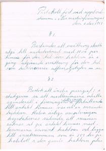 Näs Maskinförening nummer 1  protokollsbok. Uppbördsstämma 1951 12 06 del 1