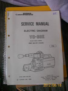 618. Såld.Canon servicemanual VC-30 E