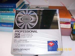 265. AGFA, magnetband. Typ: Profesional PEM 268, studioband. Märkt med: Clas Ohlson AB Insjön 31-438. Fotonr: 100_2262
