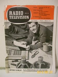 762. Radio & Television nr. 10 oktober 1958. Pris: 1,75:-. Tidskrift för radio/tvteknik. 101_0414