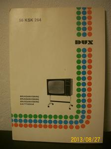 769. DUX FärgTV, TV KSK 264. Zäta tryckerierna, nr: 763421. Instruktionsbok. Tillv: Sverige. 101_0431