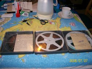 206. Smalfilm 8mm. Nr 1: Stockholm 1960 samt familjefilm. Nr 2: Isbilder, ljud, musik o dragspel. Nr 3: Stockholm 1975/-79. Fotonr: 100_1342