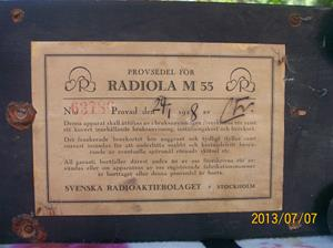 688. Såld. Radiola M55. Nummer: 63786. Tillv. 1928 01 29. 000_0010
