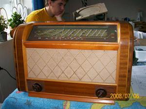 184. Luxor//Radio rörmottagare, Symfoni 395W. Nr: 205637. Fotonr: 100_1308