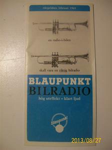768. Blaupunkt, broschyr/prislista. R 839. Februari 1965. Hammarby Sverige. 101_0425