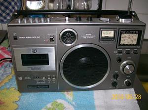405. National Panasonic, radiocassettebanspelare. Typ: RF-5410 LBS. Nr: FTZ-Prüf-Nr 106/2118. Fotonr: 100_5820