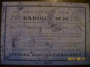 639. Radiola M30 1929. Bild 2