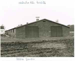 Södra gaveln på hönshuset i Näs. Bild 2 Fotograf Sven Nordling 1991 03 26.