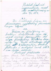 Näs Maskinförening nummer 1 protokollsbok.Möte 1954 04 12 del 1.