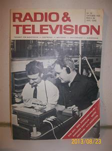 758. Radio & Television nr 10 oktober 1965. Pris: 3.50:-. Tidskrift för bla. Radio/TVteknik. 101_0408