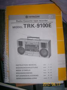 612. Hitachi, instruktionsbok.