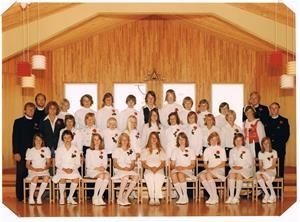 Konfirmationsskolans avslutning på Snäcka i Klintehamn 1975