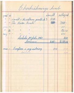 Kassabok för Näs Maskinförening nummer 1 1951-57 första sidan 1951 04 30