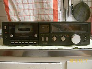 441. Technics, stereocassettedäck. Typ: M240X (RSM240X). Nr: RI 110247. Fotonr: 100_7348
