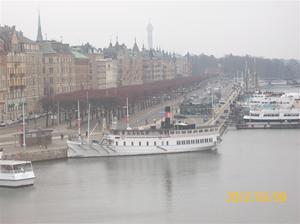 2012 03 08. Utsikt från vårt hotellrum, Strandvägen.