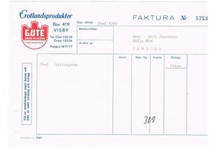 Gute Gödkyckling 1964 06 30.