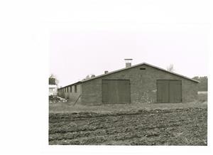 Södra gaveln på hönshuset i Näs. Bild 1 Fotograf Sven Nordling. 1991 03 26