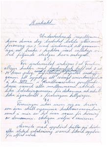 Näs Maskinförening nummer 1. Kontrakt sid 1