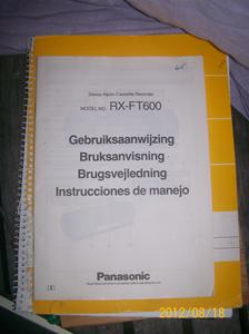 615. Panasonic instruktionsbok.