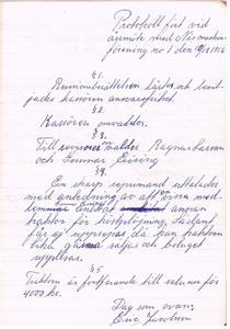 Näs Maskinförening nummer 1  protokollsbok. Möte 1956 12 10.