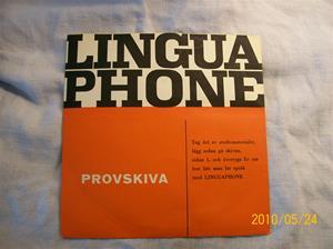 364. Lingaphone, språkkurs. Typ: Provskiva. Fotonr: 100_5736
