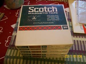 497-501. Scotch, magnetband. Typ: 203-18w2 Dynarange. Nr: 311040. Inköpt 1994 02 23. Fotonr: 100_7621