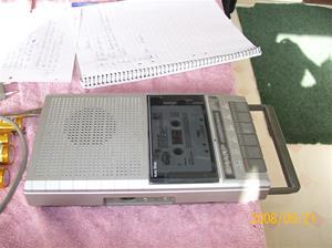 256. Sharp, Cassettebandspelare. Typ: RD 220 DS. NR: 871-B-DBP 522 E C. Fotonr: 100_2200