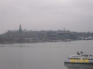 2012 02 08. Utsikt från vårt hotellrum, Djurgården.