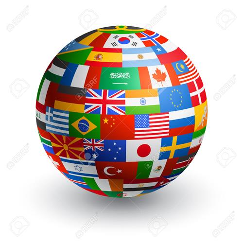 43266315-A-3D-globe-composed-by-the-flags-of-the-most-important-countries-in-the-world-Stock-Vector