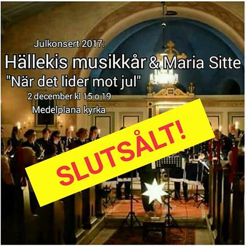 Slutsålt 15 nov 2017