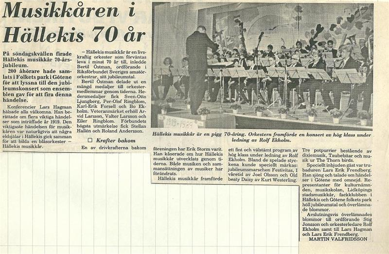 70års jubileum 1989