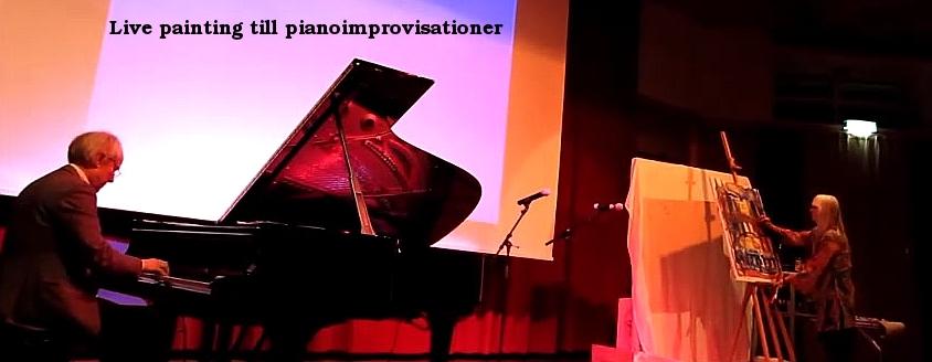 Live painting till pianoimprovisationer.