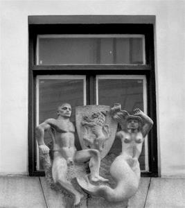 Skulptur på tak