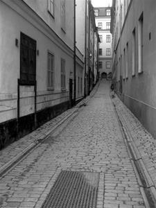 Gamla stan Stockholm svartvit