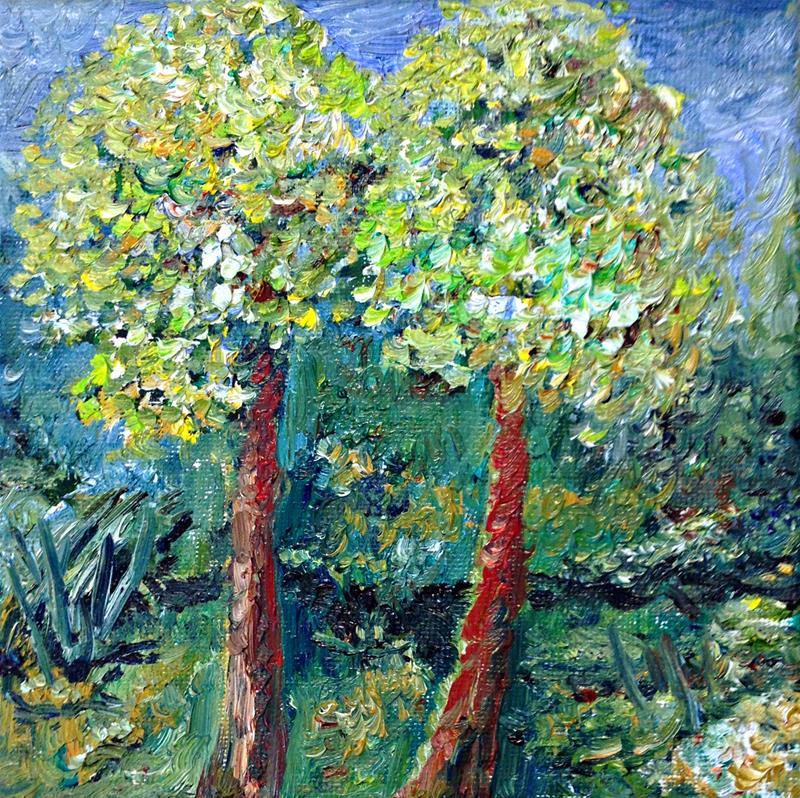 Två sommarträd