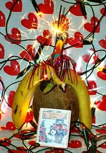Kokosfest för bananpar
