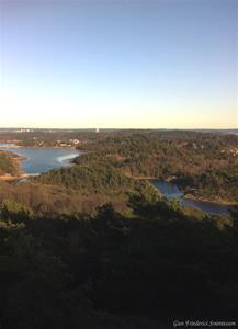 Utsikt från berget i Sundsby